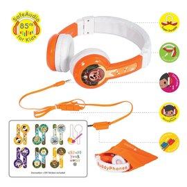BuddyPhones BuddyPhones Explore Foldable Kids Wired On Ear Headphones w/Mic Orange