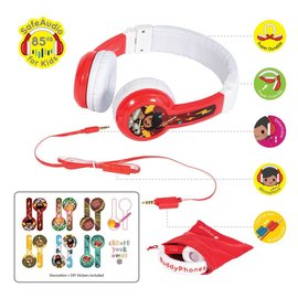BuddyPhones BuddyPhones Explore Foldable Kids Wired On Ear Headphones w/Mic Red