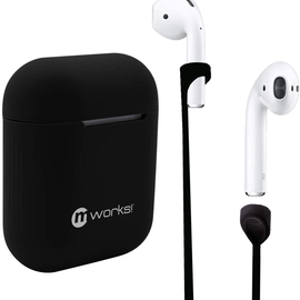 mworks! mworks! mCASE! Airpods Pro Case Skin and Straps Bundle - Black (NOT COMPATIBLE WITH REGULAR AIRPODS)