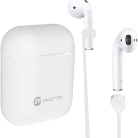 mworks! mworks! mCASE! Airpods Pro Case Skin and Straps Bundle - White (NOT COMPATIBLE WITH REGULAR AIRPODS)