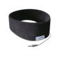 AcousticSheep Sleepphones® Classic Corded Headphones Midnight Black Fleece Fabric (one size fits most)