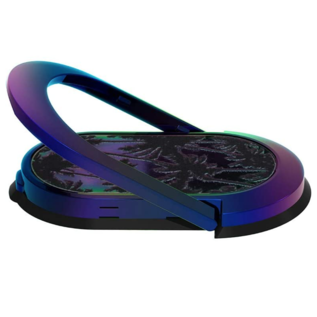 Candywirez Candywirez Magnetic Oval Ring Stand for Phone cases - Gold Leaf