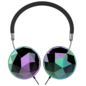 Candywirez Candywirez Over-Ear Headphones w/mic - Black with Geometric Chrome