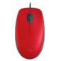 Logitech Logitech M110 Silent USB Wired Mouse - Red