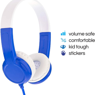 BuddyPhones BuddyPhones Discover Volume Limiting Kids Wired On Ear Headphones Blue