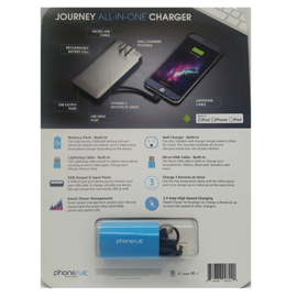 Phonesuit Phonesuit Journey All-in-One Travel Charger 3500 mAh Gray