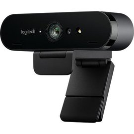 Logitech Logitech BRIO 4K webcam, 4096 x 2160, 90fps, USB 3.0, Auto-focus, 5x Digital Zoom, Microphone, Clip & Tripod mount