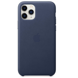 Apple Apple Leather Case for iPhone 11 Pro - Midnight Blue
