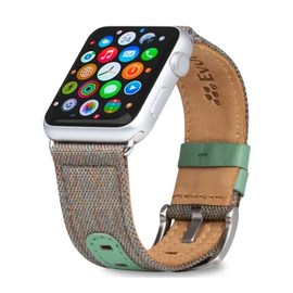 Evutec Evutec Northill Series Leather Watch Band for Apple Watch 38mm/40mm Chroma Sage