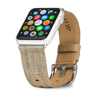 Evutec Evutec Northill Series Leather Watch Band for Apple Watch 38mm/40mm Tweed Tan