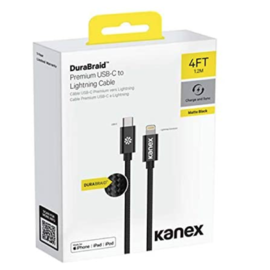 Kanex Kanex Durabraid USB-C to  Lightning Matte Black 2m