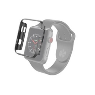 ZAGG ZAGG Invisible Shield Luxe Bumper for Apple Watch Series 1/2/3 42mm Space Gray