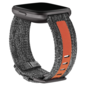 Fitbit Fitbit Versa Family Accessory Woven Band Charcoal/Orange Large