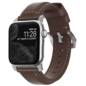 NOMAD NOMAD Classic Leather Strap for Apple Watch 42/44 mm - Silver Hardware/Rustic Brown Leather