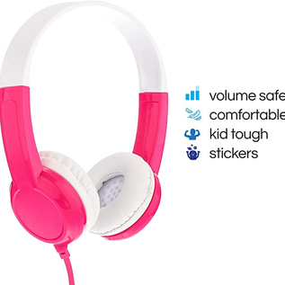 BuddyPhones BuddyPhones Discover Volume Limiting Kids Wired On Ear Headphones Pink