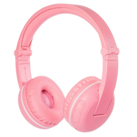 BuddyPhones BuddyPhones Play Noise Limiting Kids Wireless On Ear Headphones w/Mic Pink Sakura