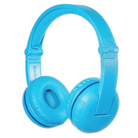 BuddyPhones BuddyPhones Play Noise Limiting Kids Wireless On Ear Headphones w/Mic Blue Glacier