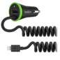 Belkin Belkin BOOST↑UP Universal Car Charger 3.4A w/ attached Lightning Cable - Black