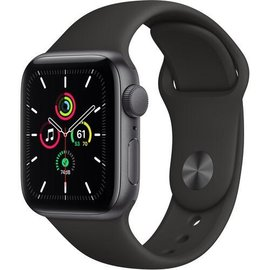 Apple Apple Watch SE (GPS, 40mm, Space Gray Aluminum, Black Sport Band) **NEW ITEM - COMING SOON - BACKORDERS ALLOWED**