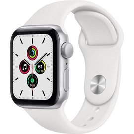 Apple Apple Watch SE (GPS, 40mm, Silver Aluminum, White Sport Band) **NEW ITEM - COMING SOON - BACKORDERS ALLOWED**