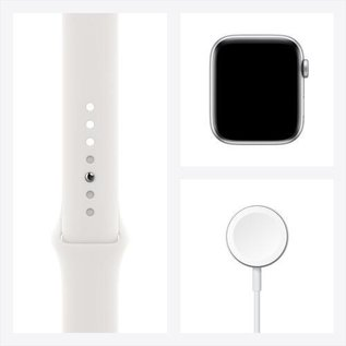 Apple Apple Watch SE (GPS, 44mm, Silver Aluminum, White Sport Band) **NEW ITEM - COMING SOON - BACKORDERS ALLOWED**