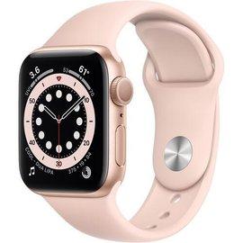Apple Apple Watch Series 6 (GPS, 40mm, Gold Aluminum, Pink Sand Sport Band)