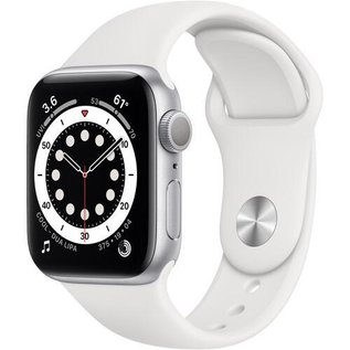Apple Apple Watch Series 6 (GPS, 40mm, Silver Aluminum, White Sport Band) **NEW ITEM - COMING SOON - BACKORDERS ALLOWED**