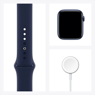 Apple Apple Watch Series 6 (GPS, 44mm, Blue Aluminum, Deep Navy Sport Band) **NEW ITEM - COMING SOON - BACKORDERS ALLOWED**