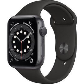 Apple Apple Watch Series 6 (GPS, 44mm, Space Aluminum, Black Sport Band) **NEW ITEM - COMING SOON - BACKORDERS ALLOWED**