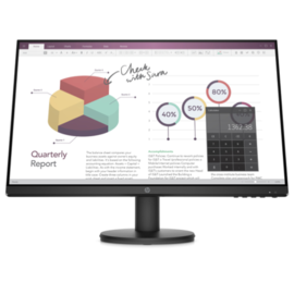 "HP HP P24v 23.8"" Monitor, Three year warranty"
