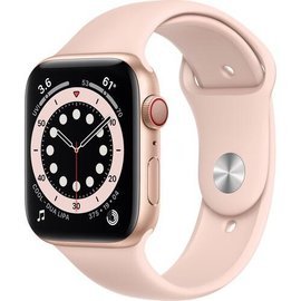 Apple Apple Watch Series 6 (GPS + Cellular, 44mm, Gold Aluminum, Pink Sand Sport Band) **SPECIAL ORDER**