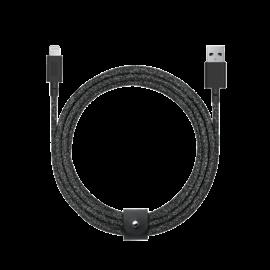 Native Union Native Union Braided Lightning Belt Cable, 3m (9.9ft) - Cosmos Black