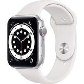 Apple Apple Watch Series 6 (GPS, 44mm, Silver Aluminum, White Sport Band) **NEW ITEM - COMING SOON - BACKORDERS ALLOWED**