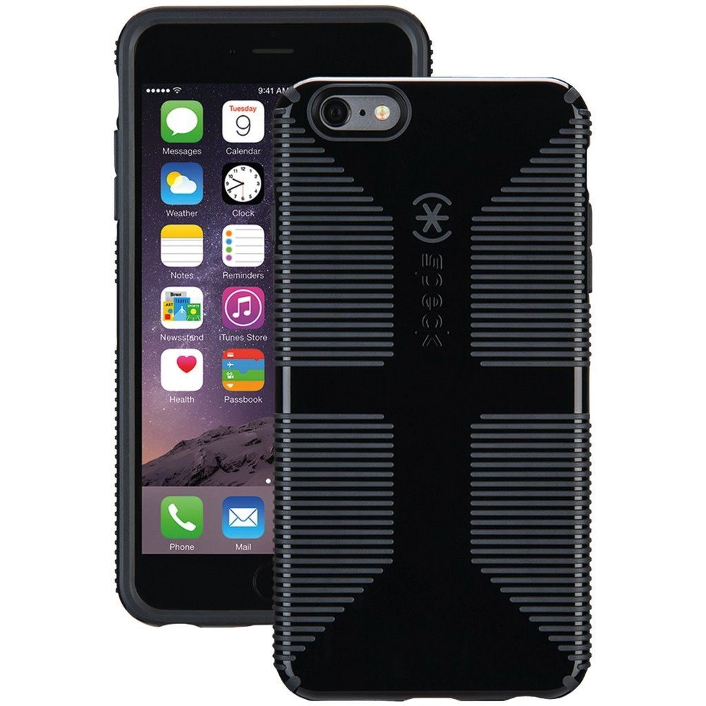on sale e7ef8 06bc5 Speck Speck CandyShell Grip Case for iPhone 6s/6 Plus Black/Slate Grey ALL  SALES FINAL - NO RETURNS OR EXCHANGES