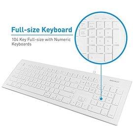 Macally 104 key Ultra Slim USB Wired Keyboard for Mac and PC