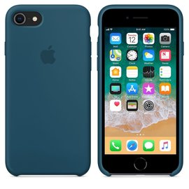 Apple Apple Silicone Case for iPhone 8/7 - Cosmos Blue