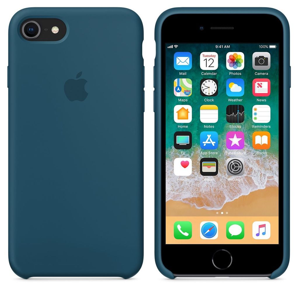official photos aa9f1 30203 Apple Apple Silicone Case for iPhone 8/7 - Cosmos Blue