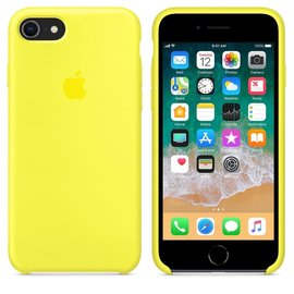 Apple Apple Silicone Case for iPhone 8/7 - Flash