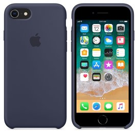 Apple Apple Silicone Case for iPhone 8/7 - Midnight Blue