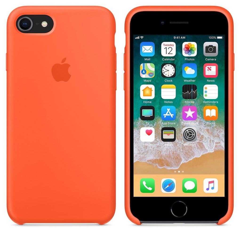 innovative design 18659 b4957 Apple Apple Silicone Case for iPhone 8/7 - Spicy Orange