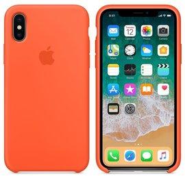 Apple Apple Silicone Case for iPhone X - Spicy Orange