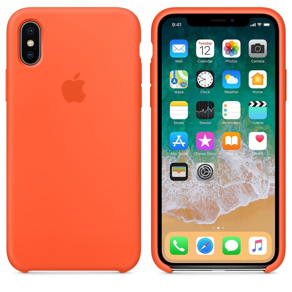 huge discount fb1f0 b0ada Apple Apple Silicone Case for iPhone X - Spicy Orange