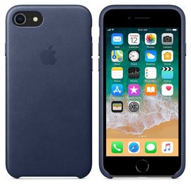 Apple Apple Leather Case for iPhone 8/7 - Midnight Blue (ATO)