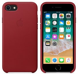 Apple Apple Leather Case for iPhone 8/7 - PRODUCT RED