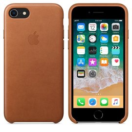 Apple Apple Leather Case for iPhone 8/7 - Saddle Brown