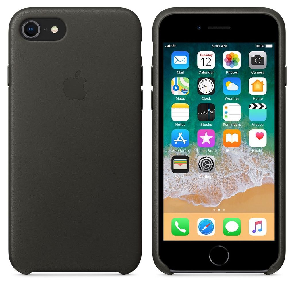 save off ce47a c6de1 Apple Apple Leather Case for iPhone 8/7 Plus - Black
