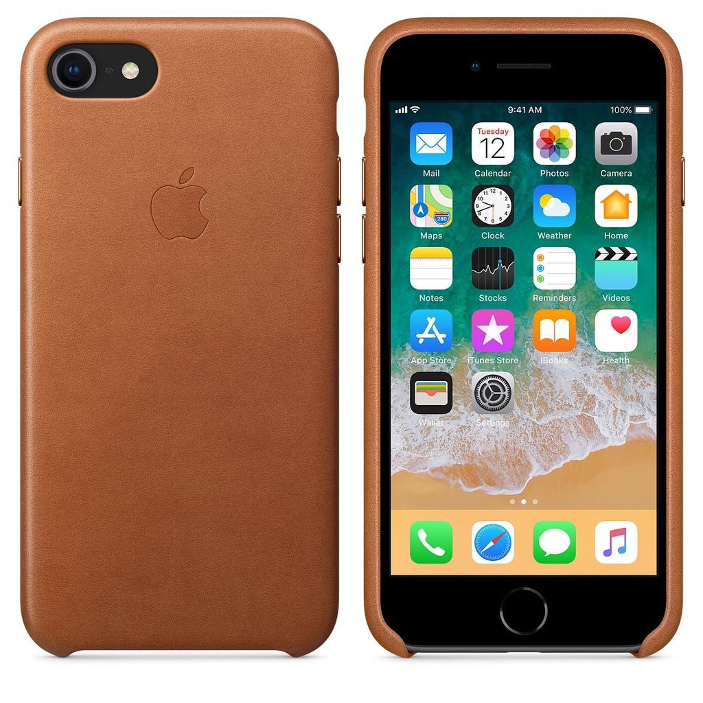 official photos c153b 0ccfb Apple Apple Leather Case for iPhone 8/7 Plus - Saddle Brown