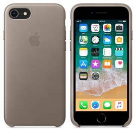 Apple Apple Leather Case for iPhone 8/7 Plus - Taupe