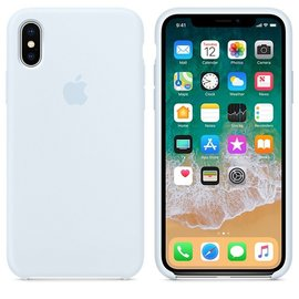 Apple Apple Silicone Case for iPhone X - Sky Blue