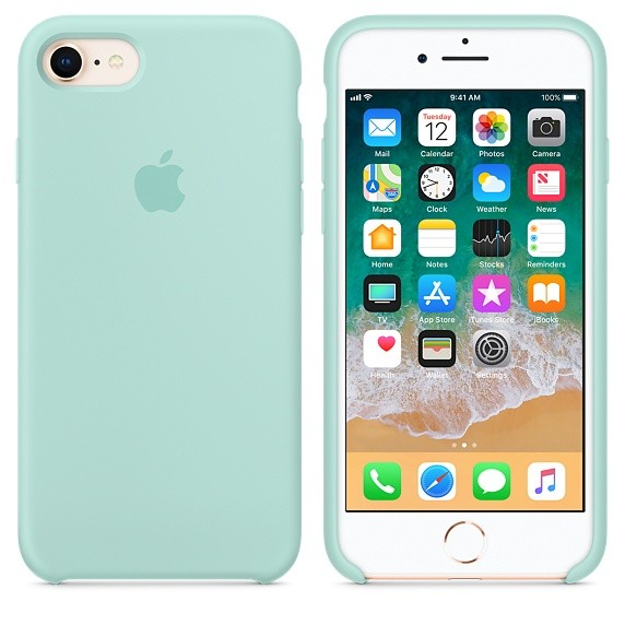 cheaper 311db 1ce54 Apple Apple Silicone Case for iPhone 8/7 - Marine Green